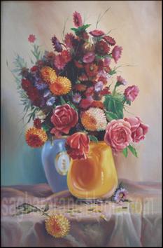 گل رنگ روغن