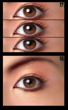 مراحل گام به گام طراحی چشم